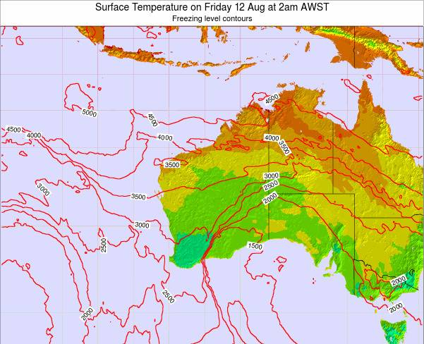 Western-Australia Surface Temperature on Wednesday 29 May at 8pm WST