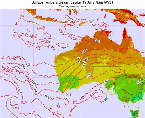 Western-Australia Surface Temperature on Tuesday 21 May at 8am WST