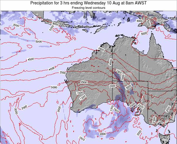Western-Australia Precipitation for 3 hrs ending Friday 24 May at 8pm WST map