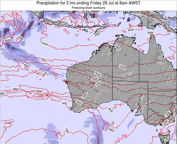 Western-Australia Precipitation for 3 hrs ending Thursday 30 May at 8am WST map