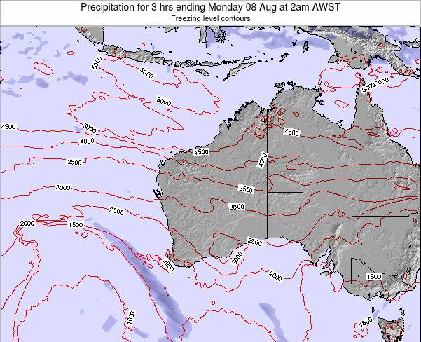 Western-Australia Precipitation for 3 hrs ending Tuesday 21 May at 2pm WST