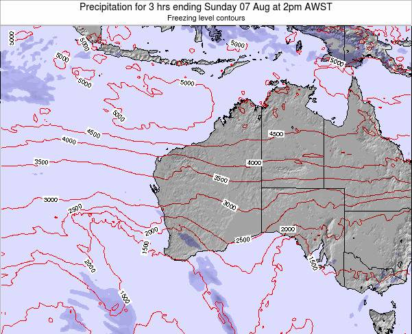 Western-Australia Precipitation for 3 hrs ending Friday 24 May at 8am WST map