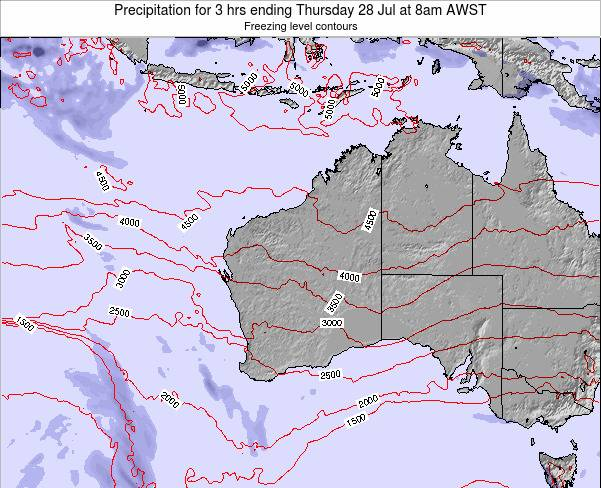 Western-Australia Precipitation for 3 hrs ending Thursday 23 May at 8am WST map