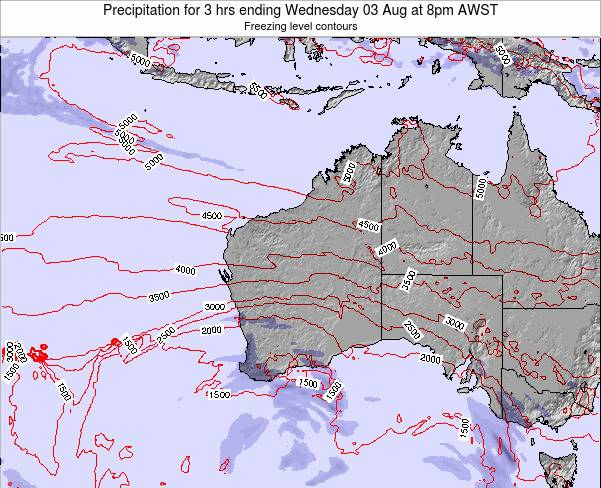 Western-Australia Precipitation for 3 hrs ending Wednesday 05 Nov at 8am WST