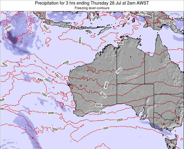 Western-Australia Precipitation for 3 hrs ending Thursday 15 Dec at 8am AWST