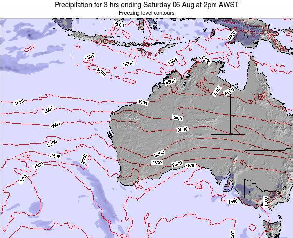 Western-Australia Precipitation for 3 hrs ending Wednesday 03 May at 2am AWST