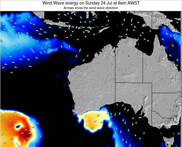 Western-Australia Wind Wave energy on Sunday 26 May at 2am WST
