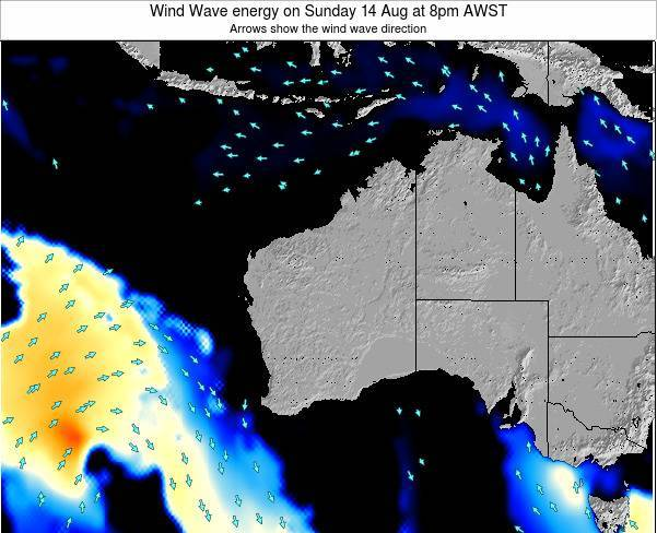 Western-Australia Wind Wave energy on Thursday 30 May at 2pm WST