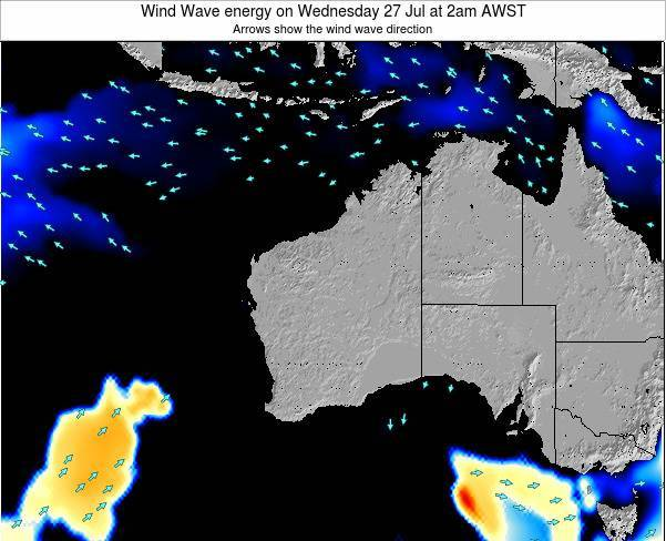 Western-Australia Wind Wave energy on Wednesday 11 Dec at 8am WST