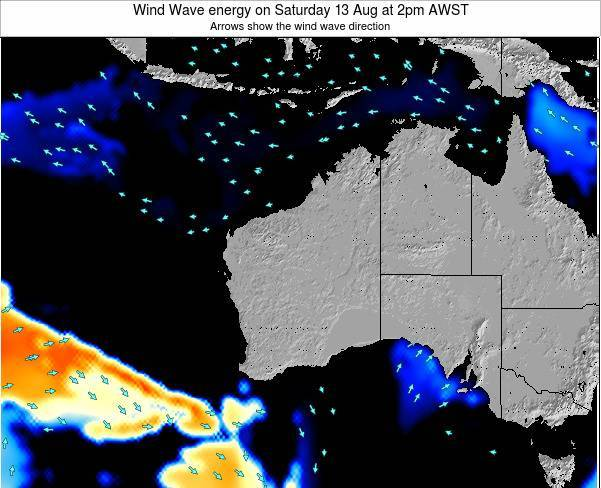 Western-Australia Wind Wave energy on Saturday 29 Jul at 8am AWST