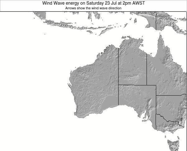 Western-Australia Wind Wave energy on Wednesday 05 Aug at 8am AWST