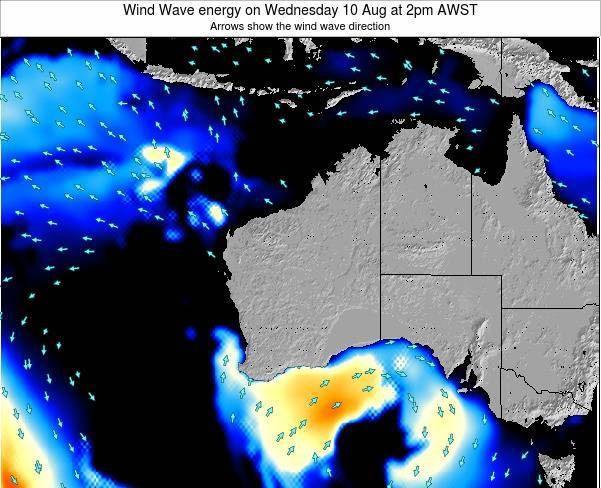 Western-Australia Wind Wave energy on Tuesday 21 May at 8pm WST