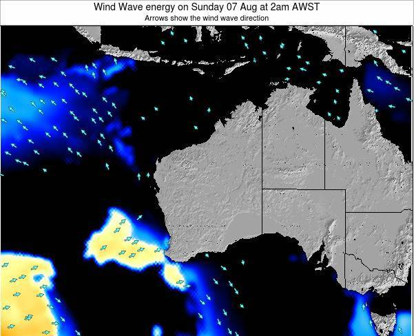 Western-Australia Wind Wave energy on Wednesday 22 May at 2am WST