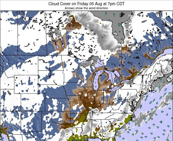 Wisconsin Cloud Cover on Sunday 26 Nov at 6am CST map