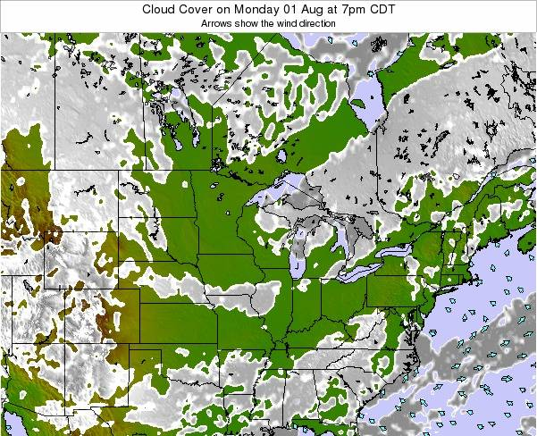 Minnesota Cloud Cover on Thursday 23 May at 1pm CDT