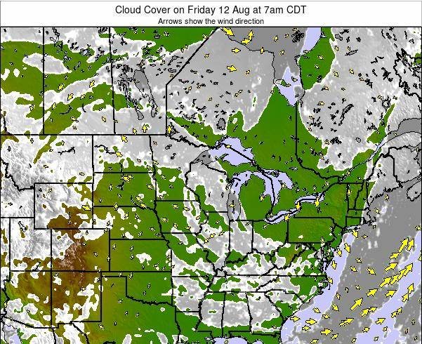 Minnesota Cloud Cover on Thursday 05 Feb at 6am CST