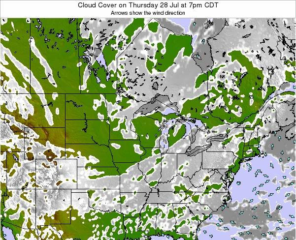 Minnesota Cloud Cover on Wednesday 30 Apr at 1am CDT