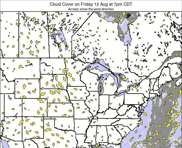 Minnesota Cloud Cover on Wednesday 07 Sep at 1am CDT