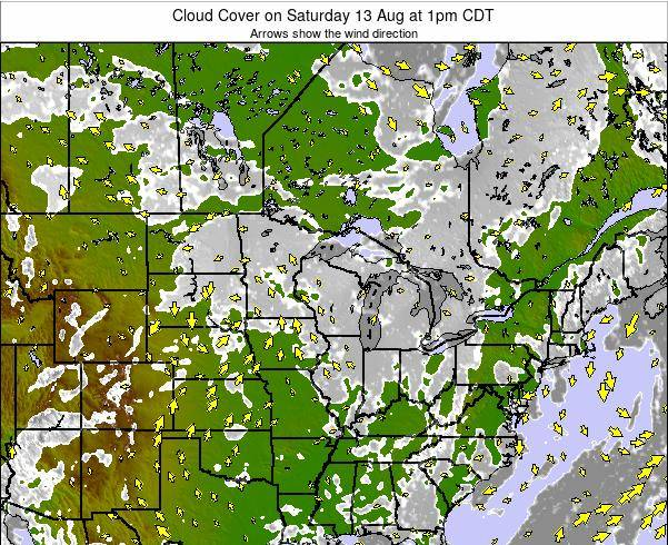 Minnesota Cloud Cover on Saturday 27 Dec at 6am CST