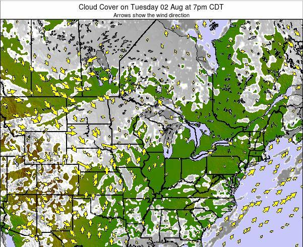 Minnesota Cloud Cover on Sunday 20 Apr at 7am CDT