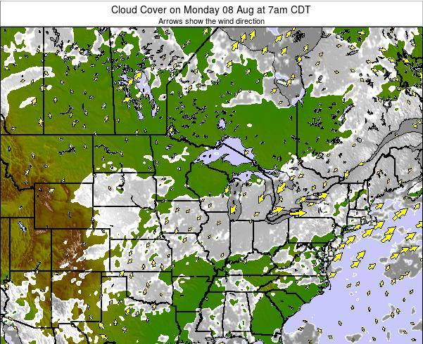 Minnesota Cloud Cover on Tuesday 22 Apr at 1pm CDT
