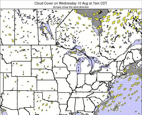 Minnesota Cloud Cover on Sunday 26 May at 1pm CDT
