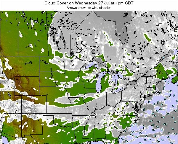 Minnesota Cloud Cover on Saturday 04 Apr at 1am CDT