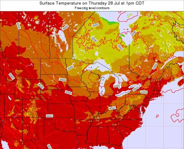 Minnesota Surface Temperature on Thursday 23 May at 7pm CDT