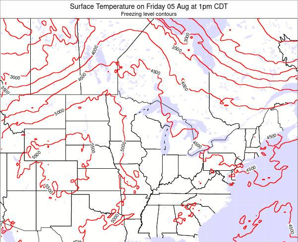 Wisconsin Surface Temperature on Tuesday 28 May at 7am CDT
