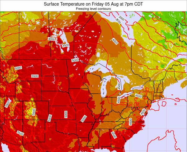 Wisconsin Surface Temperature on Wednesday 29 May at 1am CDT