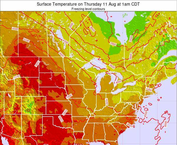Minnesota Surface Temperature on Friday 24 May at 1pm CDT