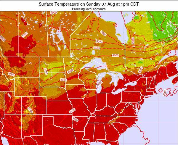 Wisconsin Surface Temperature on Friday 24 May at 1am CDT