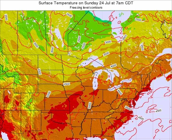 Minnesota Surface Temperature on Saturday 25 May at 7am CDT