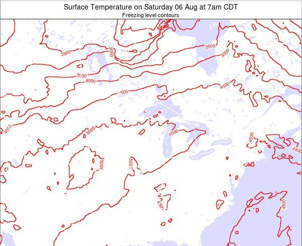 Minnesota Surface Temperature on Tuesday 28 May at 7am CDT