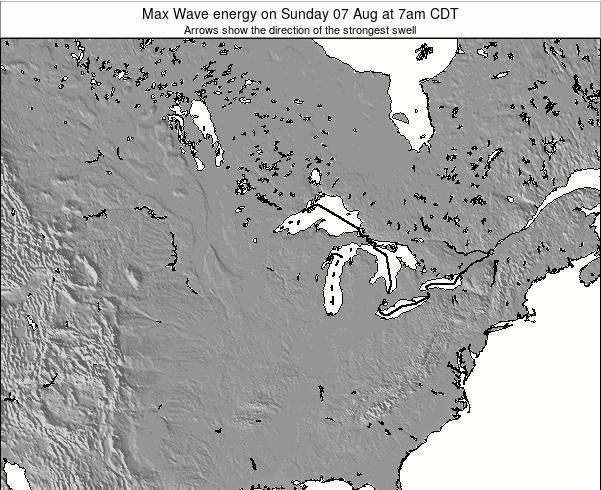 Minnesota Max Wave energy on Wednesday 21 Feb at 6am CST map