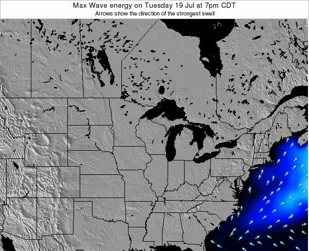 Minnesota Max Wave energy on Monday 10 Mar at 1am CDT