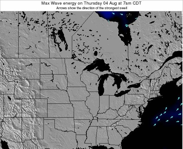 Minnesota Max Wave energy on Thursday 12 Dec at 6pm CST