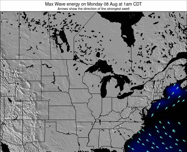 Minnesota Max Wave energy on Sunday 31 May at 7am CDT