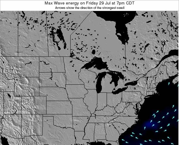 Minnesota Max Wave energy on Friday 03 Mar at 12am CST