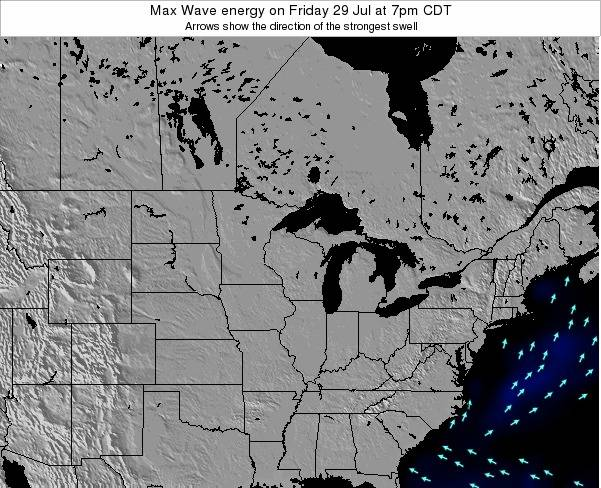 Minnesota Max Wave energy on Tuesday 10 Dec at 6pm CST