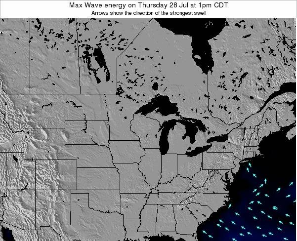 Minnesota Max Wave energy on Tuesday 26 Aug at 1am CDT