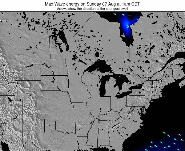 Minnesota Max Wave energy on Saturday 10 Oct at 1am CDT