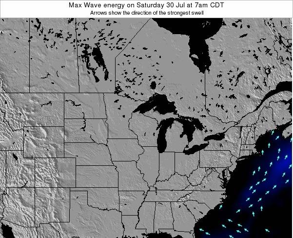 Michigan Max Wave energy on Sunday 26 May at 7am CDT