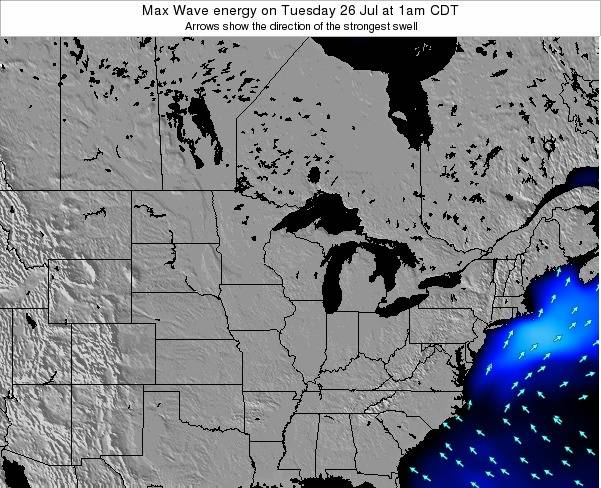 Minnesota Max Wave energy on Saturday 25 May at 7am CDT