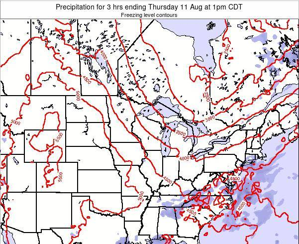 Minnesota Precipitation for 3 hrs ending Monday 30 Apr at 1pm CDT map
