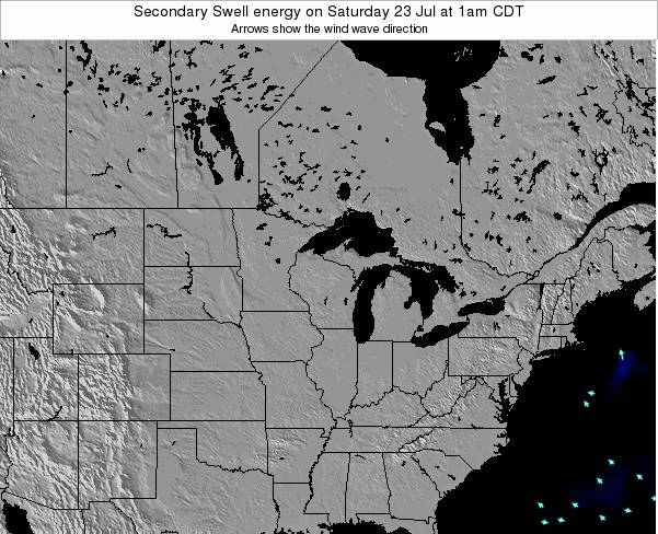 Michigan Secondary Swell energy on Tuesday 28 May at 7pm CDT