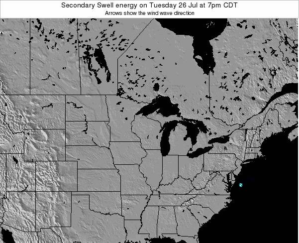 Wisconsin Secondary Swell energy on Wednesday 23 Apr at 1am CDT