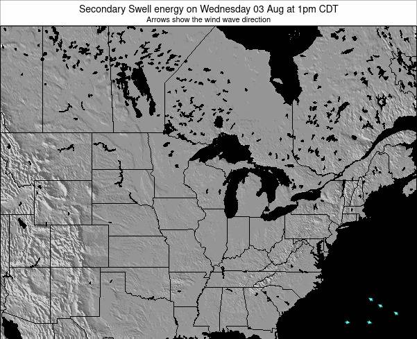 Wisconsin Secondary Swell energy on Friday 25 Apr at 7am CDT
