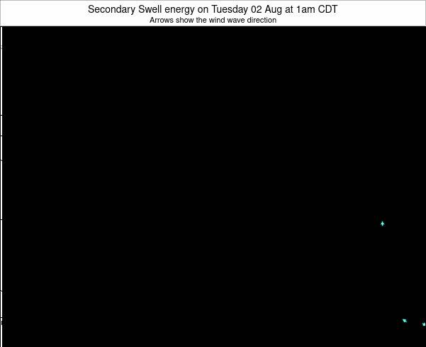 Michigan Secondary Swell energy on Wednesday 22 May at 1am CDT