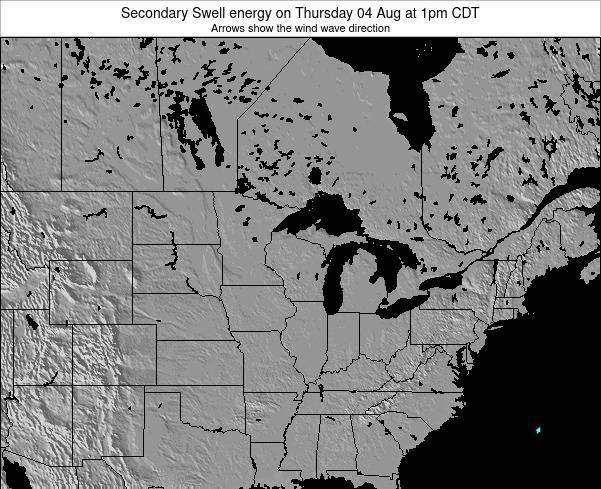Wisconsin Secondary Swell energy on Friday 14 Mar at 7am CDT